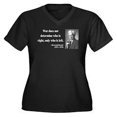 Bertrand Russell 1 Women's Plus Size V-Neck Dark T