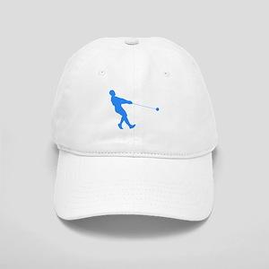 Blue Hammer Throw Silhouette Baseball Cap