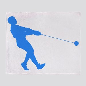 Blue Hammer Throw Silhouette Throw Blanket
