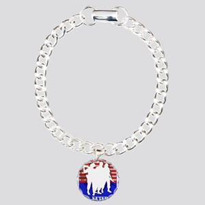 U.S. Veteran white soldiers silhouette Bracelet