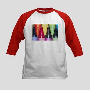 Kids Crayons Red Kids Baseball Jersey