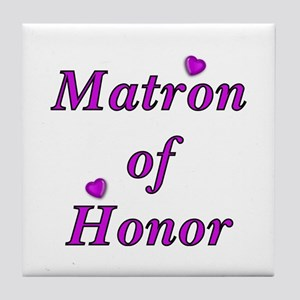 Matron of Honor Simply Love Tile Coaster
