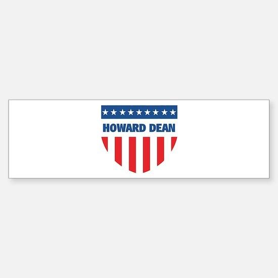 HOWARD DEAN 08 (emblem) Bumper Bumper Bumper Sticker