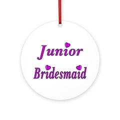 Junior Bridesmaid Simply Love Ornament (Round)