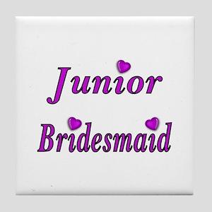 Junior Bridesmaid Simply Love Tile Coaster
