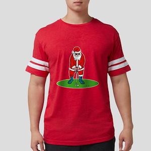 Santa looking in big sack Mens Football Shirt