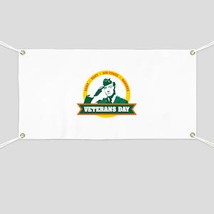 Veterans day salute Banner