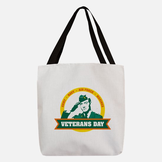 Veterans day salute Polyester Tote Bag