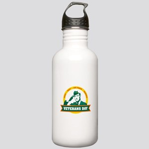Veterans day salute Water Bottle