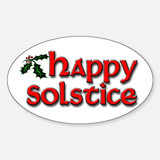 Happy Solstice Sticker (Oval)