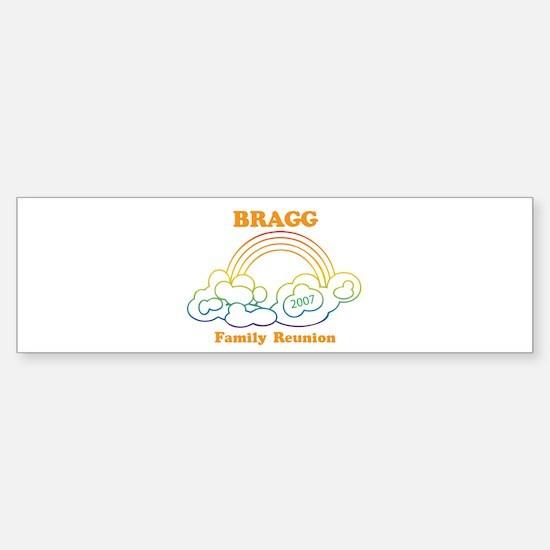 BRAGG reunion (rainbow) Bumper Bumper Bumper Sticker
