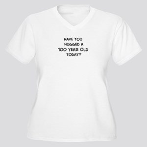 Hugged a 100 Year Old Women's Plus Size V-Neck T-S