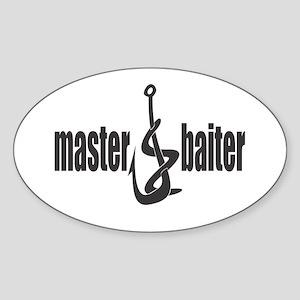Master Baiter Oval Sticker