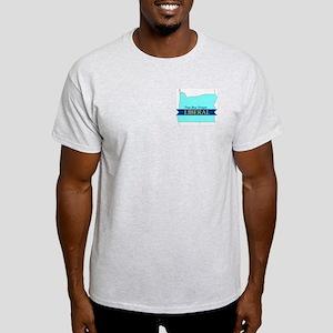 True Blue Oregon LIBERAL Ash Grey T-Shirt
