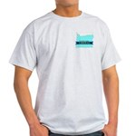 True Blue Oregon LIBERAL Ash Grey T-Shirt