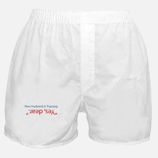 new husband in training Boxer Shorts