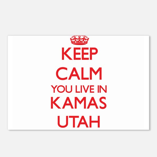 Keep calm you live in Kam Postcards (Package of 8)