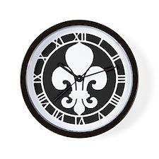 fleur-de-lis_cl Wall Clock