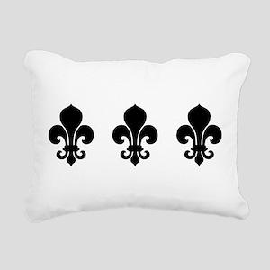 fleur-de-lis_bowl Rectangular Canvas Pillow