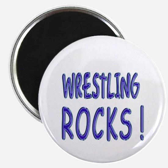"Wrestling Rocks ! 2.25"" Magnet (10 pack)"