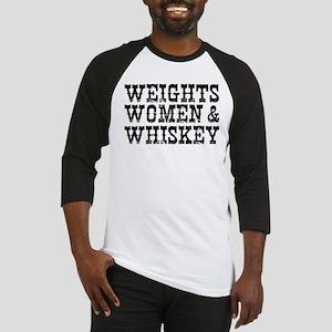 WEIGHTS WOMEN & WHISKEY Baseball Jersey