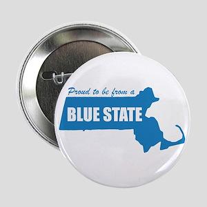 Blue State Massachusetts MA Button