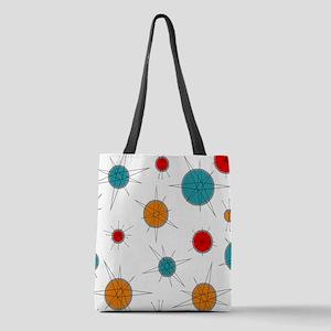 Atomic Era Planets Polyester Tote Bag