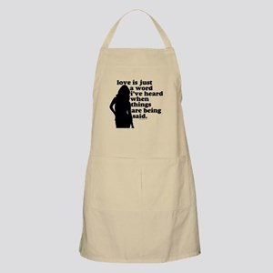 just a word BBQ Apron