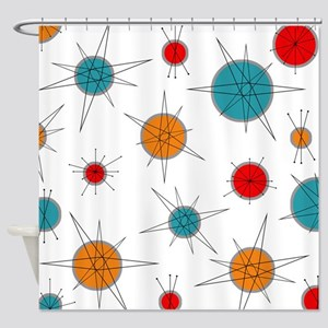 Atomic Era Planets Shower Curtain