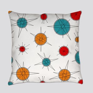 Atomic Era Planets Everyday Pillow