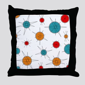 Atomic Era Planets Throw Pillow