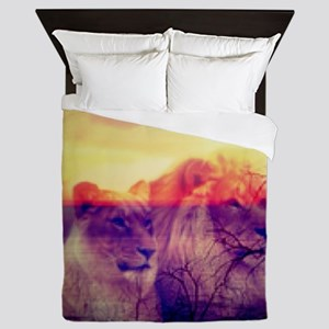 Magic Animals LIONS Queen Duvet