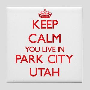 Keep calm you live in Park City Utah Tile Coaster