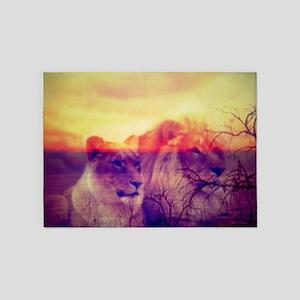 Magic Animals LIONS 5'x7'Area Rug