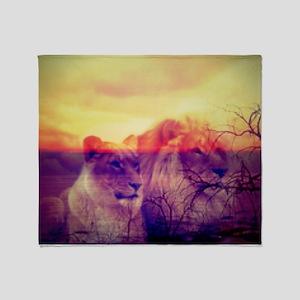 Magic Animals LIONS Throw Blanket