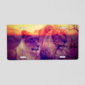 Magic Animals LIONS Aluminum License Plate