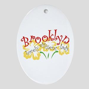 Brooklyn Oval Ornament