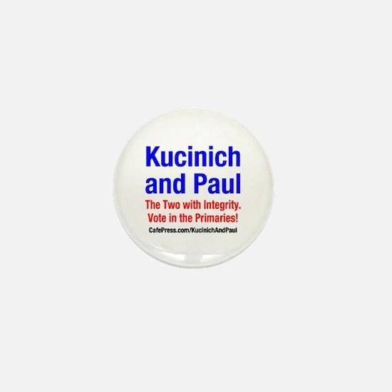 Kucinich and Paul Mini Button