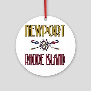Newport RI Ornament (Round)