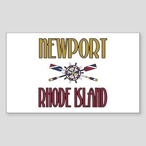 Newport RI Rectangle Sticker