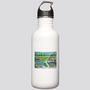 Country farm painting Stainless Water Bottle 1.0L