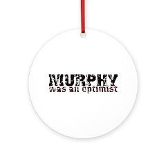 Grunge Optimist Ornament (Round)