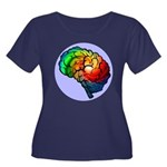 Neurodiversity Rainbow Brain T- Plus Size T-Shirt