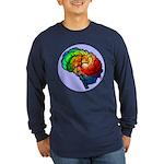 Neurodiversity Rainbow Brain Long Sleeve T-Shirt