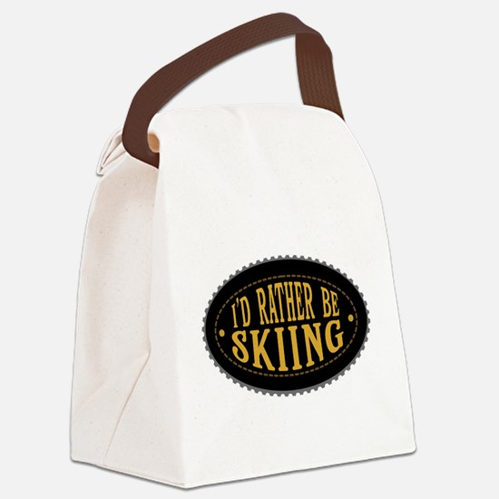 I'd Rather Be Skiing Canvas Lunch Bag