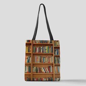 Bookshelf Books Polyester Tote Bag