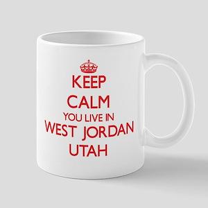Keep calm you live in West Jordan Utah Mugs