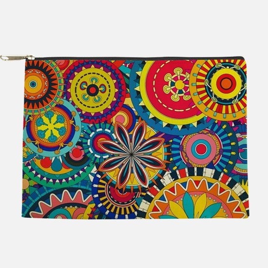 Funky Retro Pattern Makeup Pouch