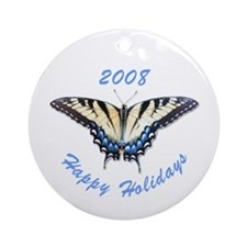 2008 Tiger Swallowtail Butterfly Ornament (Round)