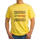 Lefty Scale/Mode Cheat Sheet Yellow T-Shirt
